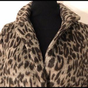 A New Day | M | Faux Cheetah Print Coat
